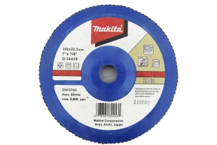 FLAP DISC 180MM  #40 COSTADO NYLON  D-36429  MAKITA